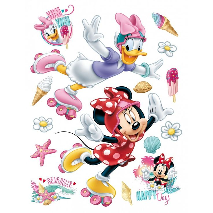 Minnie egér és Daisy kacsa fal matrica