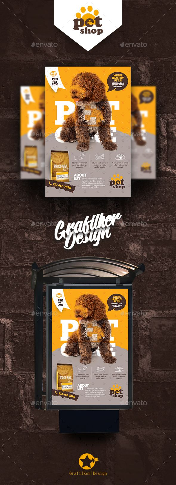 #Pet Shop Poster Templates - #Signage Print Templates