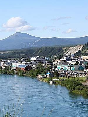 Whitehorse, capital of Yukon Territory, Canada