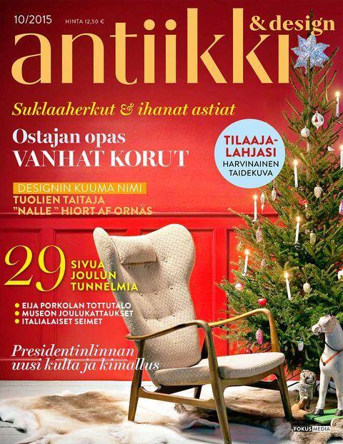 Antiikki & Design 10/2015 kansi.  Photo Arto Vuohelainen, style Arja Löfström.