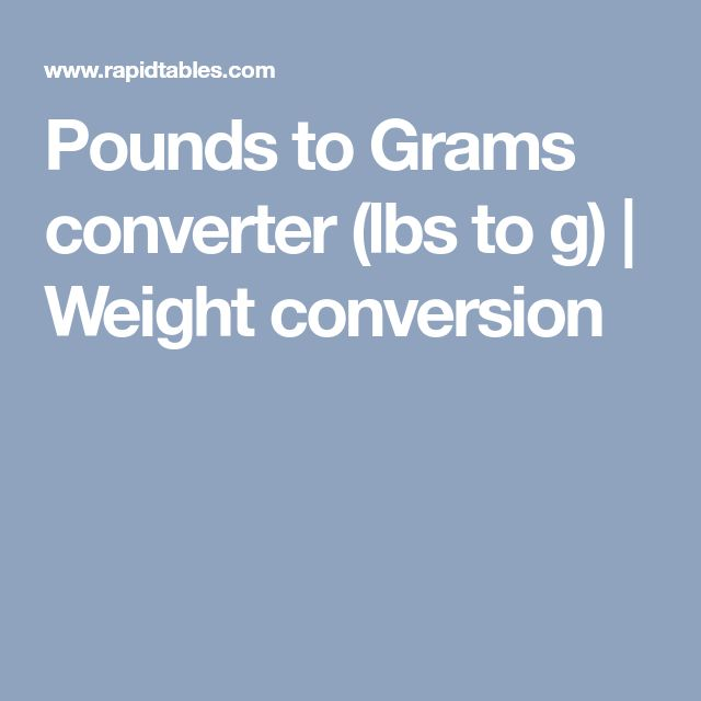 Pounds To Grams Converter (lbs To G)