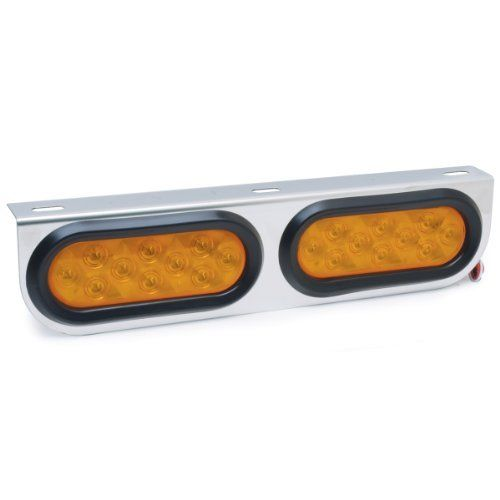 "Roadpro RP4066LED 16-1/2"" x 4"" Posi-View Stainless Steel LED Light Bar Assembly with 2 Amber Lights by RoadPro. Save 16 Off!. $37.96. With its sturdy chrome-plated stainless steel base construction and easy three-wire hook-up, this amber light bar is ready to go fast."