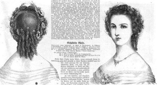 1861.  Der Bazar: Illustrirte Damen-Zeitung.  Back curls.