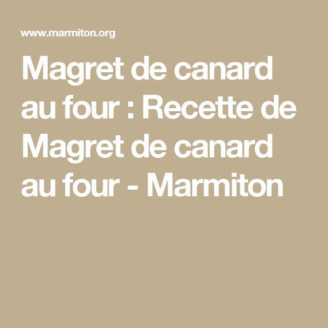 Magret de canard au four : Recette de Magret de canard au four - Marmiton