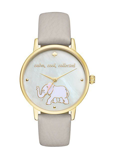 calm cool collected metro watch, clocktower grey/gold
