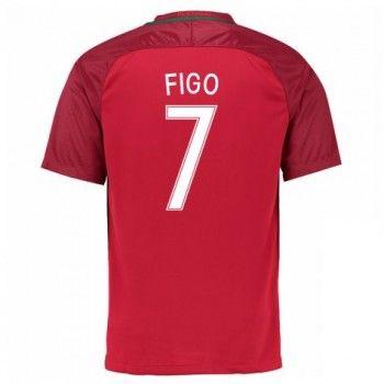 Portugal 2016 Figo 7 Hemmatröja Kortärmad   #Billiga  #fotbollströjor