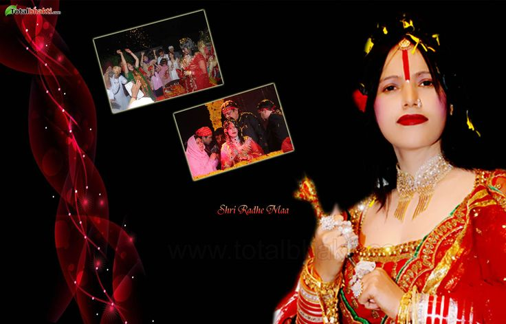 radhe-maa wallpaper, Hindu wallpaper, Shri Radhe Maa Wallpaper,, Download wallpaper, Spiritual wallpaper - Totalbhakti Preview