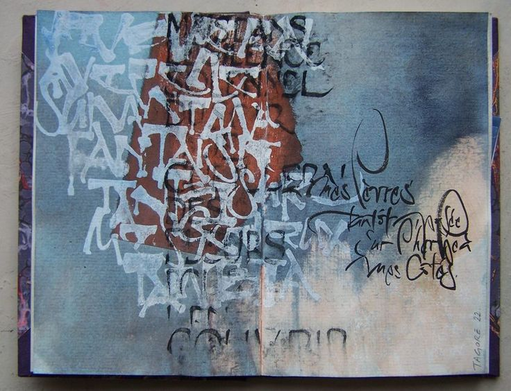 Elisabeth Couloigner / L'ivre de lettres et de couleurs: Carnet d'études calligraphiques #calligraphy #art