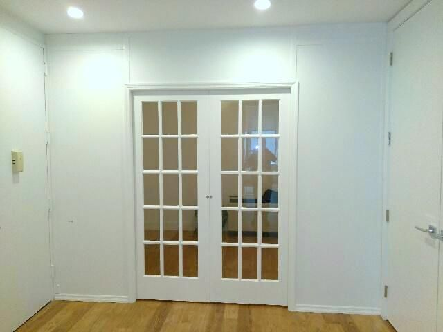 Temporary Room Divider With Double French Pocket Doors Call Us For All Your Custom Room