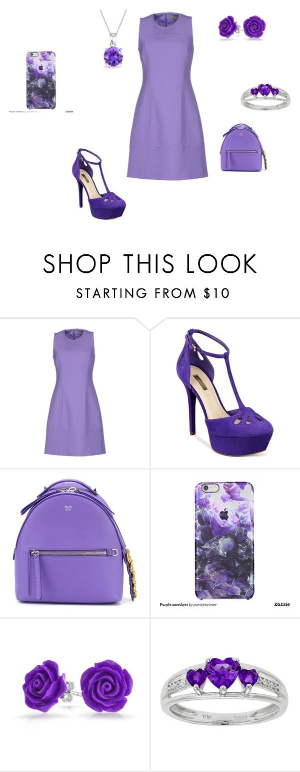 """Purple"" by neculaescu-alexia on Polyvore featuring beauty, Michael Kors, GUESS, Fendi and Bling Jewelry"