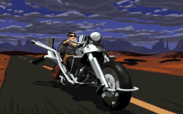 Full Throttle - an awesome game from LucasArts.