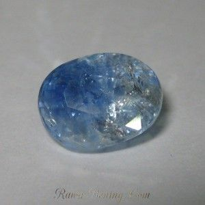 Light Whitish Blue Sapphire 2.08 cts