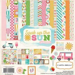 CB SUS39016 Soak Up Sun Collection Kit Scrapbook paper