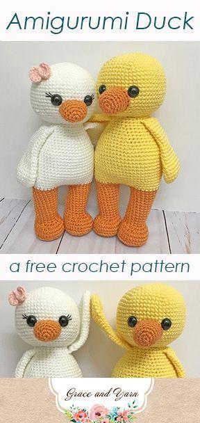 Amigurumi Duck Pattern – Free crochet pattern with photo tutorial! This pattern …