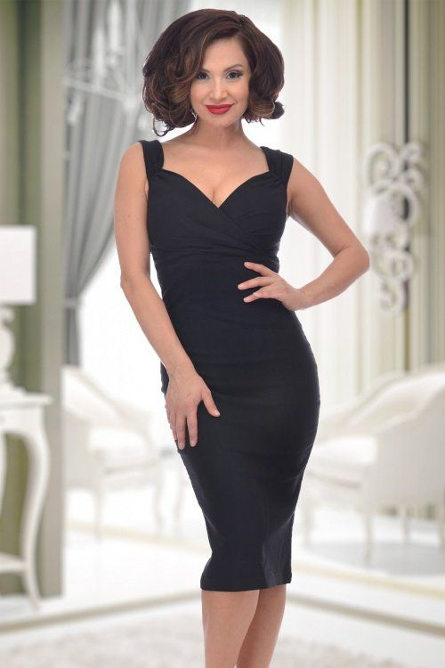 Rock Steady Clothing The Diva Pencil Dress Black 100 10 15083 4