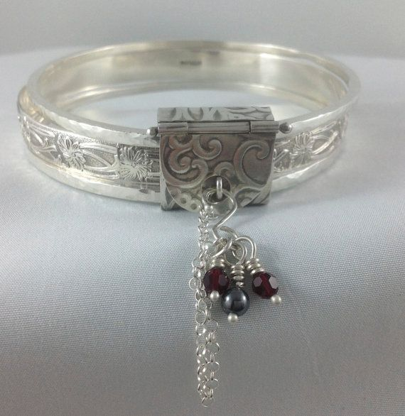 Sterling Silver Bangle & Keeper set. Set of 3 by LayaliJewelry    $285.00 USD