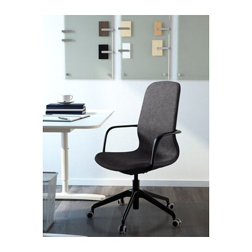 LÅNGFJÄLL Swivel chair - Gunnared dark gray, black - IKEA