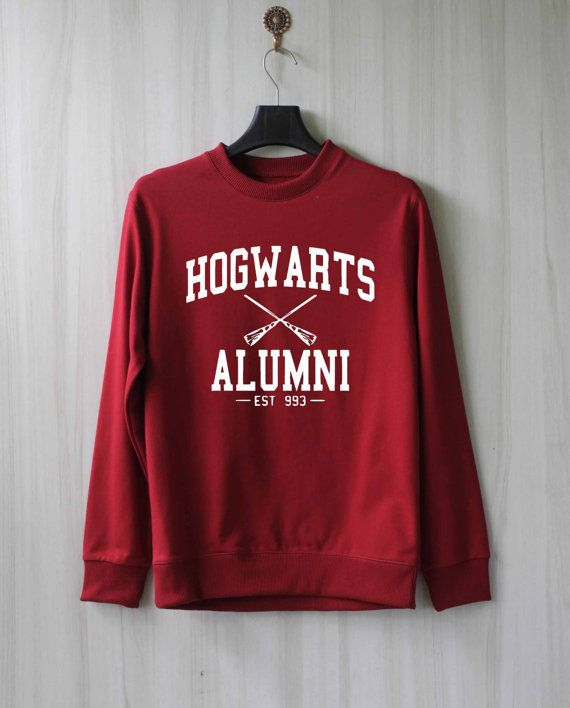 Hogwarts Alumni Maroon Crewneck - Freshtops Marketplace