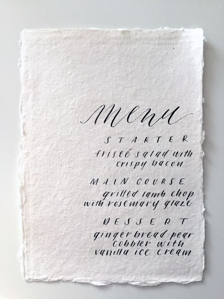Wedding Calligraphy Inspiration: Miranda Writes