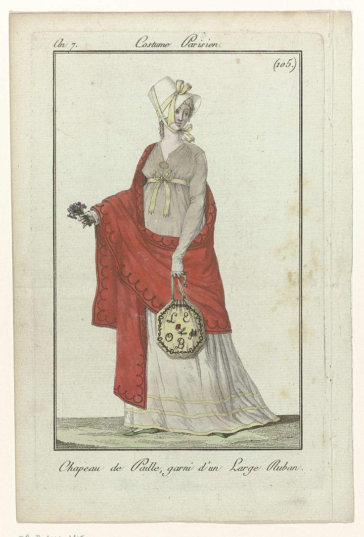 Journal des Dames et des Modes, Costume Parisien, 4 mai 1799,  An 7 (105) : Chapeau de Paille..., Anonymous, 1799