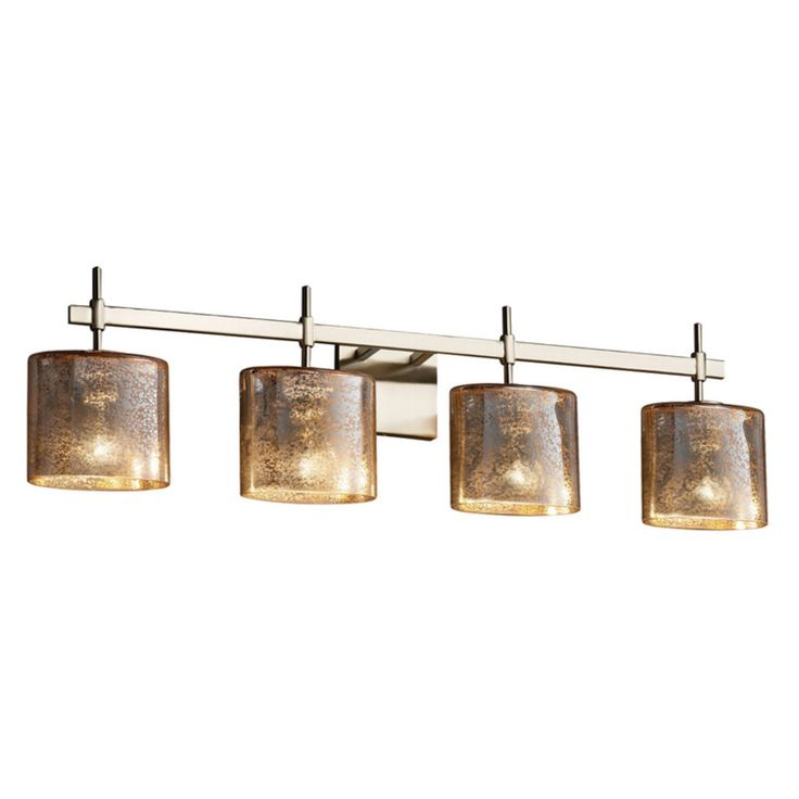 Justice Design Fusion Union FSN-8414-30 Vanity Light - FSN-8414-30-MROR-NCKL