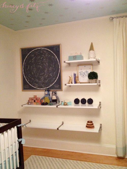 Reed's Nursery Shelves : Custom Wall Shelving Using IKEA Shelves