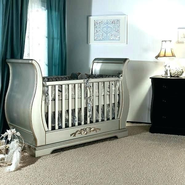 Real Wood Cribs Sleigh Baby Bed Best Solid Wood Baby Furniture