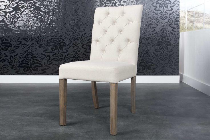 Jedálenské stoličky - moderné : Luxusná stolička Thomas krémová