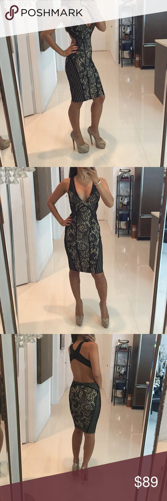 Beautiful Black Laced and Nude Cocktail Dress S The details and lines of this dress is spectacular!! 👌🏼 Dresses