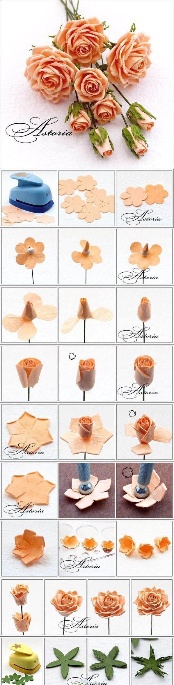 Beautiful Pink Rose | DIY & Crafts Tutorials Never thought to do fake roses but I'll give it a try