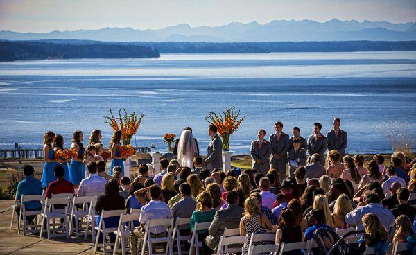 Mariah & Adam Chambers Bay Golf Course in University Place, Wa | Weddings in Seattle & Lake Chelan — Borrowed & Blue
