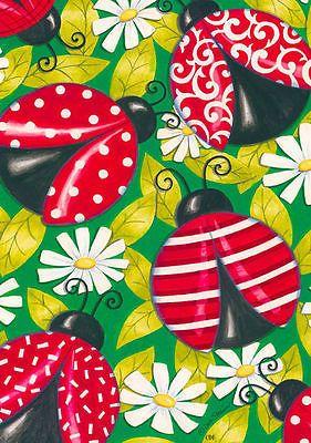 Details about Fancy Ladybugs Spring Garden Flag Daisy Decorative Polka Dot Decorative 12″x18″