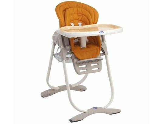 Chaise haute évolutive CHICCO Polly Magic orange