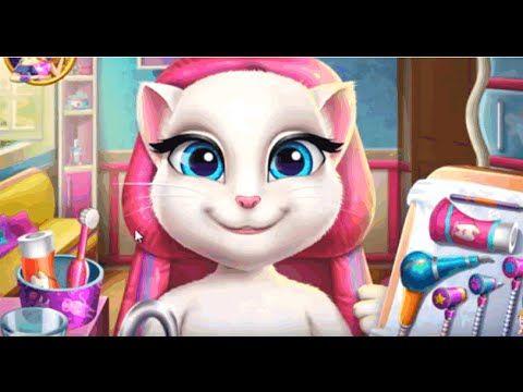 Кошка Анжела  лечит зубки (Talking Angela real dentist) детские игры онлайн