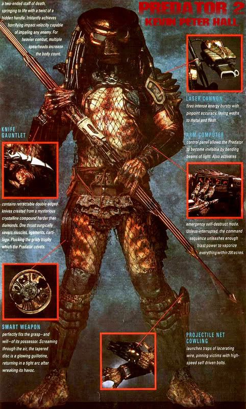 Predator 2 Movie - Predator's New Weapons - Behind-the-Scenes Making Predator 2 | Stan Winston School of Character Arts
