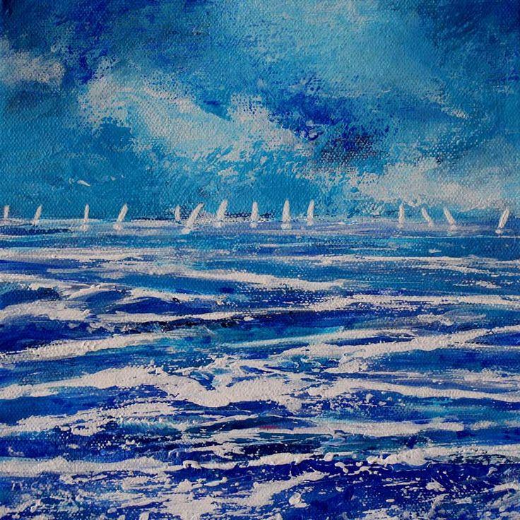 Distant Sailing Boats