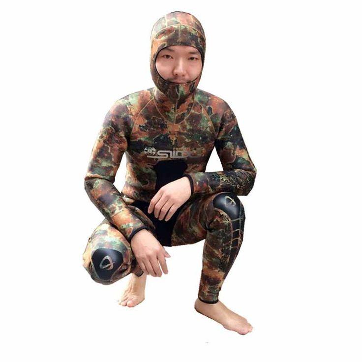 3 мм цельный неопрена камуфляж гидрокостюм Мужчины толщиной Подводное Плавание серфинг костюм с длинным рукавом воды спортсмены зимнего плавания гидрокостюмы