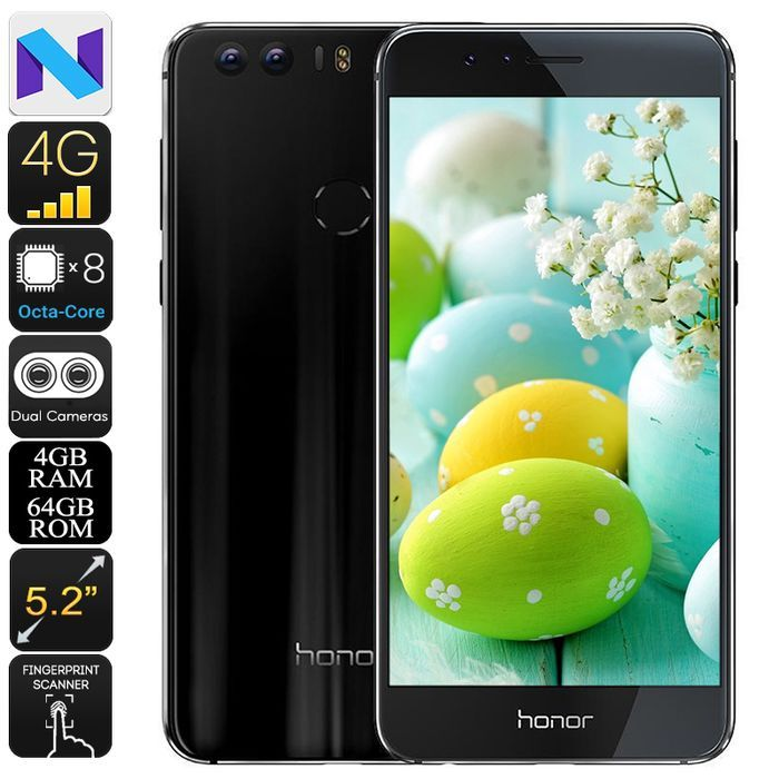 Huawei Honor 8 Android Phone Dual IMEI Android 7.0 1080p Display 4GB RAM Octa Co: Bid: 543,84€ Buynow Price 543,84€ Remaining 05 days 00 hrs