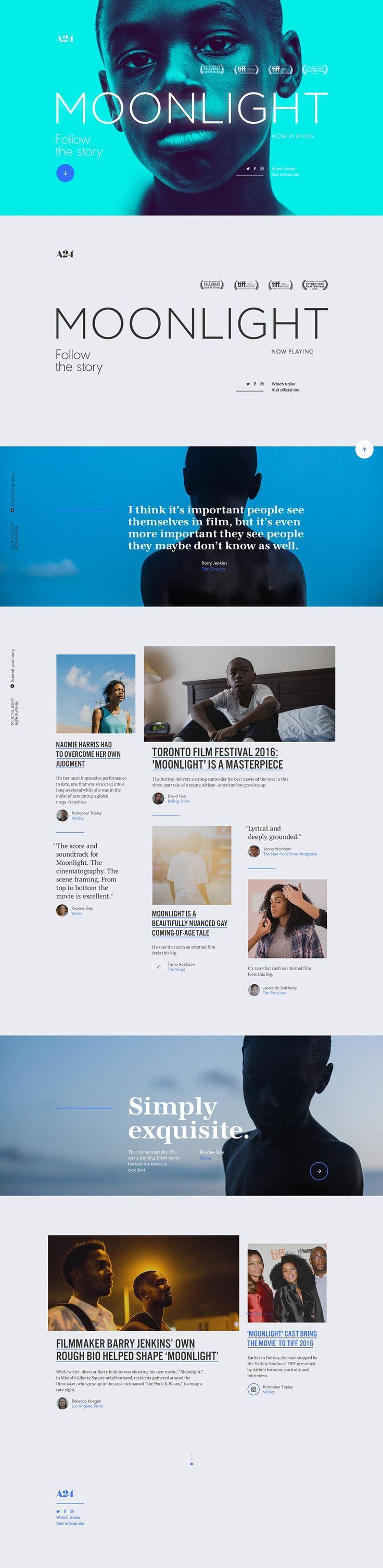Moonlight Film Movie Website - Behance #ui #ux#userexperience #website #webdesign #design