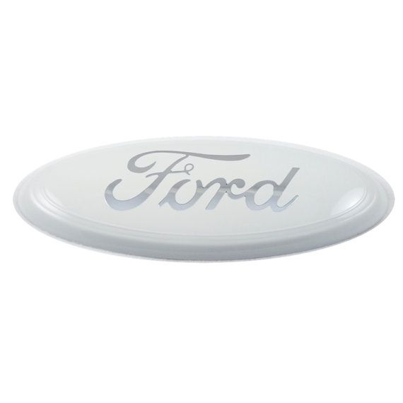Custom Ford Emblem White with Chrome by CustomizedEmblems on Etsy