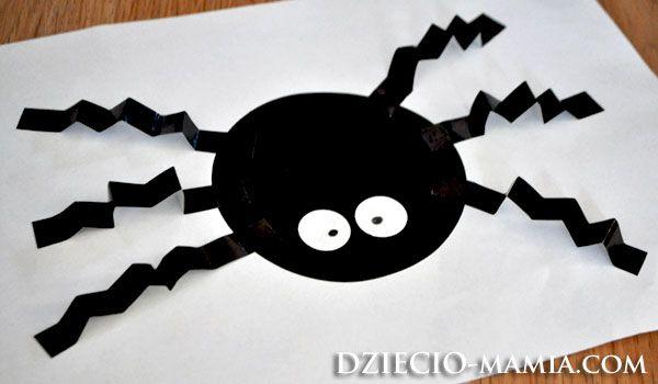 wheels of origami, spider, spring, shapes, dziecio-mamia.com