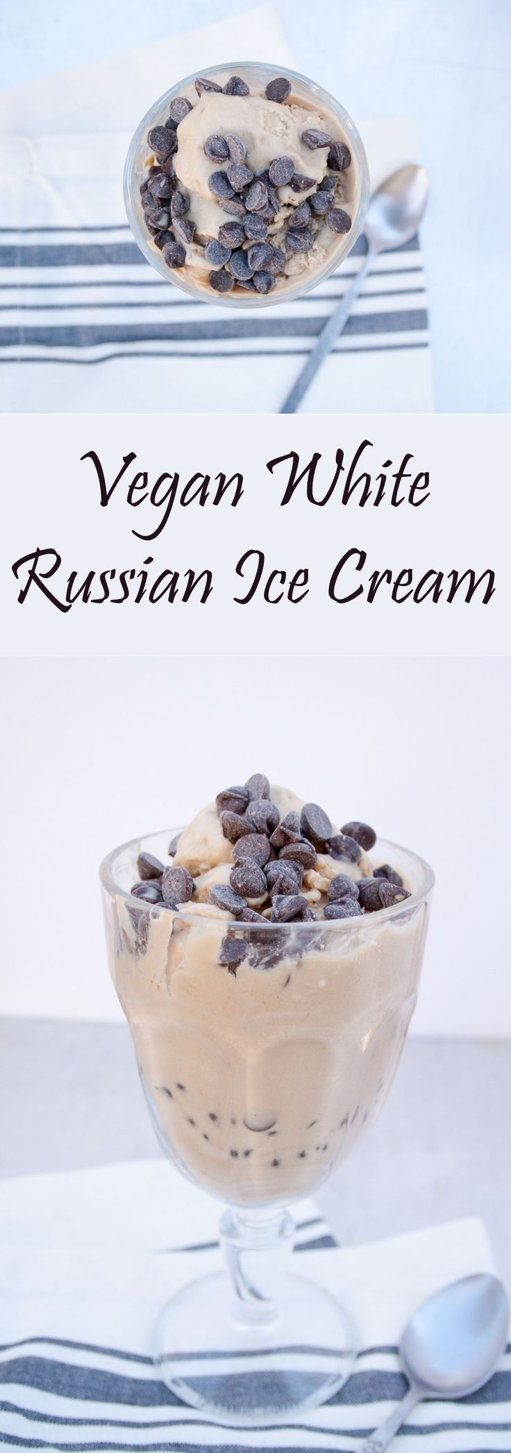 Vegan White Russian Ice Cream - This creamy, rich vegan ice cream is perfect for Valentine's Day or date night.