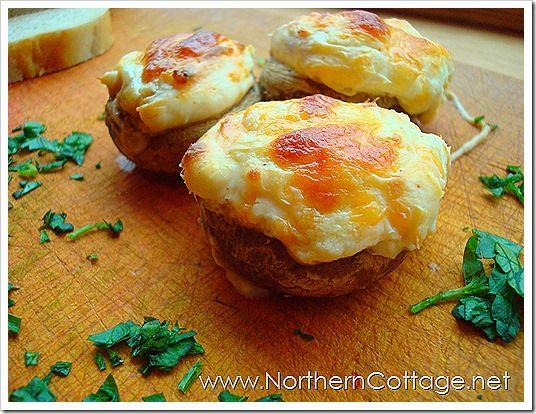stuffed mushroomsSoftener Cream, Tablespoon Mince, Stuffed Mushrooms, Northern Cottages, Tsp Cayenne, Cups Shredded, Blog 010, Shredded Parmesan, Cheese Stuffed