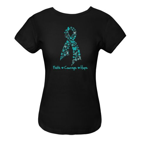 1000 images about ovarian cancer awareness shirts on for Ovarian cancer awareness t shirts