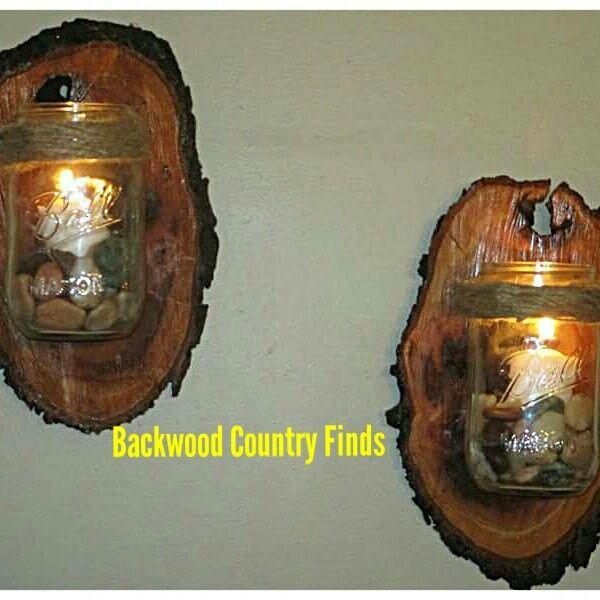 10 Light Diy Mason Jar Chandelier Rustic Cedar Rustic Wood: 25+ Unique Log Candle Holders Ideas On Pinterest