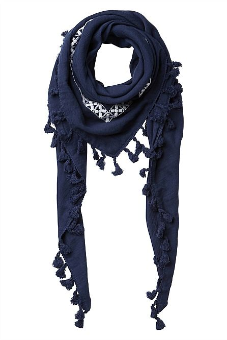 Witchery Girl: Embroidered Scarf