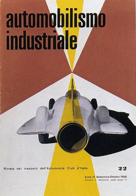 cMag345 - Automobilismo Industriale Magazine cover by Max Huber / Issue 22 / September - October 1956
