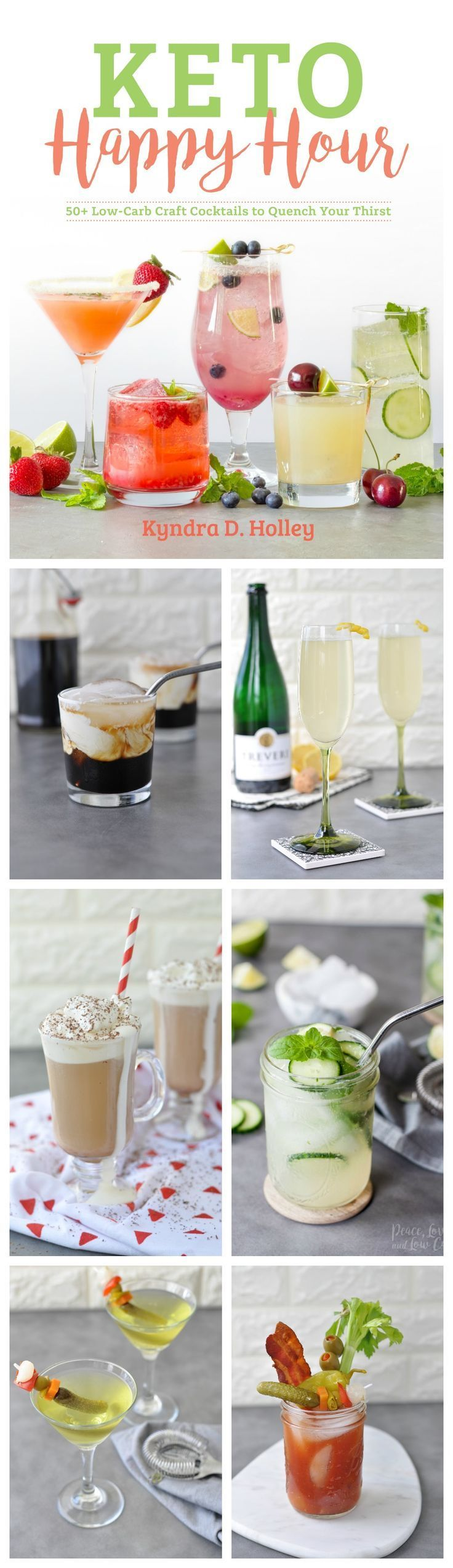 Keto Cocktails Happy Hour - 50  Low Carb Craft Alcoholic Drinks to Quench Your Thirst  via @PeaceLoveLoCarb
