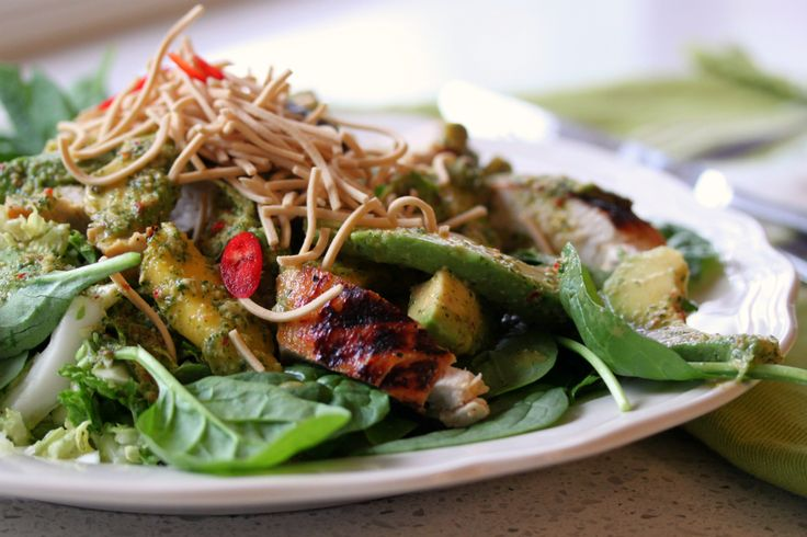 Thermomix recipe: Chicken Mango And Noodle Salad · Tenina.com
