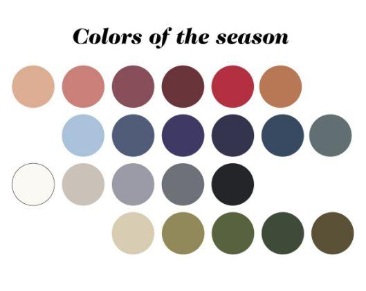 Inspirerande färger för hösten och 2017